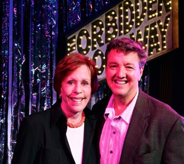 Carol Burnett and Forbidden Broadway producer John Freedson