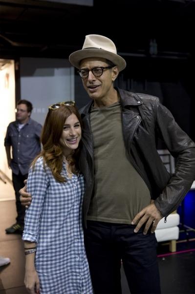 Aya Cash and Jeff Goldblum Photo