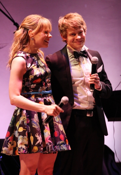 Celia Keenan-Bolger & Andrew Keenan-Bolgerattends the American Theatre Wing's annual gala at the Plaza Hotel on Monday Sept. 24, 2012 in New York.  at American Theatre Wing 2012 Gala Honors the Redgrave Family