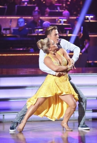 Shawn Johnson, Derek Hough at Season Premiere of ABC's DANCING WITH THE STARS: ALL STARS