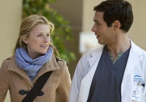 Mamie Gummer, Michael Rady at First Look - Series Premiere of The CW's EMILY OWENS, M.D.