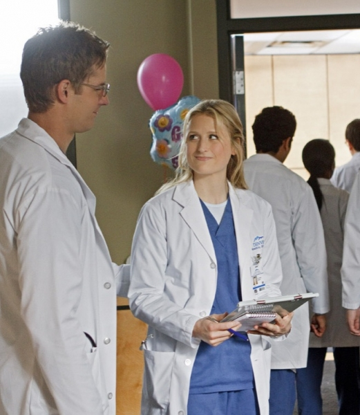 Josh Hartley, Mamie Gummer at First Look - Series Premiere of The CW's EMILY OWENS, M.D.