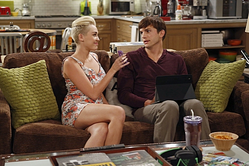 Photo Coverage: First Look at Miley Cyrus on TWO AND A HALF MEN