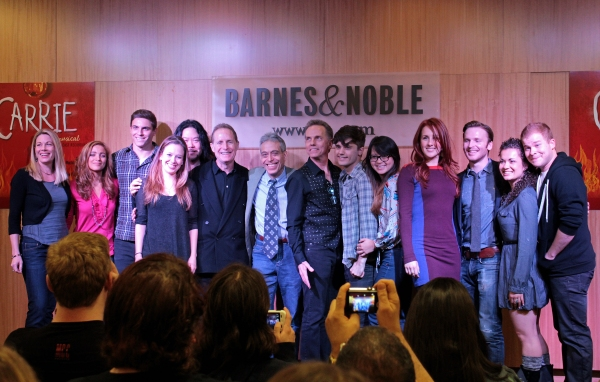 Marin Mazzie, Christy Altomare, Derek Klena, Molly Ranson, Stafford Arima, Michael Gore, Lawrence D. Cohen, Dean Pitchford, Andy Mientus, Jen Sese, Jeanna de Waal, Corey Boardman, Elly Noble, F. Michael Haynie at Marin Mazzie, Molly Ranson and CARRIE Cast Perform at Barnes & Noble