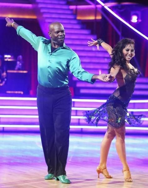 "DANCING WITH THE STARS: ALL-STARS: THE RESULTS SHOW - ""Episode 1501A"" - Emmitt Smith and Cheryl Burke entertained the audience with an encore performance of their ChaCha during the live two-hour season premiere of ""Dancing with the Stars: All-Stars: The"