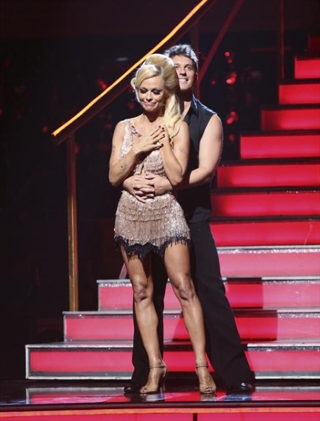 DANCING WITH THE STARS: ALL-STARS: THE RESULTS SHOW - 'Episode 1501A' - Pamela Anderson and Tristan MacManus became the first couple to be eliminated during the live two-hour season premiere of 'Dancing with the Stars: All-Stars: The Results Show,' TUESD at Dancing with the Stars First Results Show + Justin Bieber!