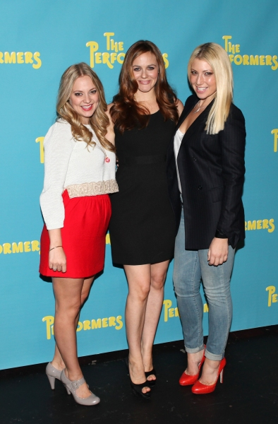 Jenni Barber, actress Alicia Silverstone and actress Ari Graynor at Alicia Silverstone, Cheyenne Jackson and Cast of THE PERFORMERS Meets the Press!