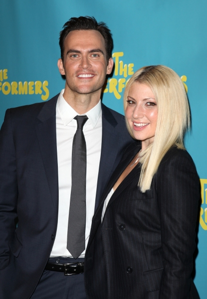 Cheyenne Jackson and actress Ari Graynor  at Alicia Silverstone, Cheyenne Jackson and Cast of THE PERFORMERS Meets the Press!