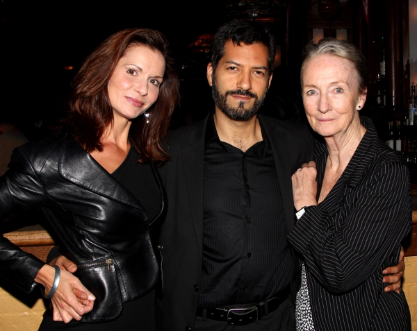 Florencia Lozano, Alfredo Narciso & Kathleen Chalfant  at Inside Opening Night of NYTW's RED DOG HOWLS