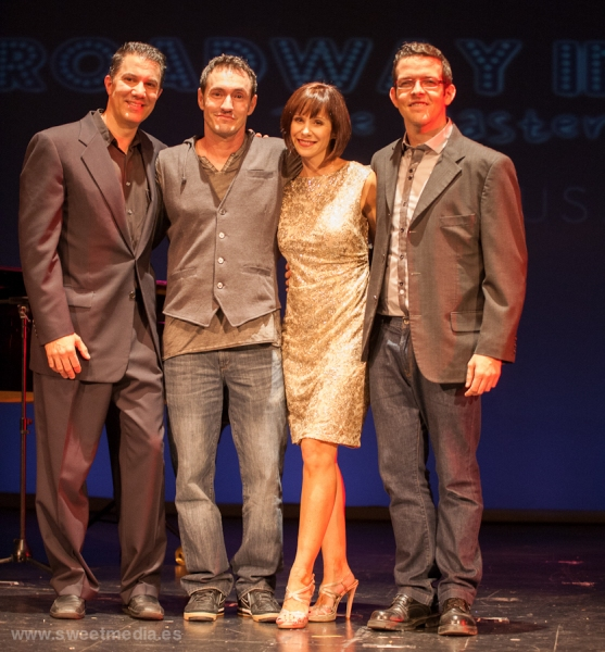 Stephen Cook, Juan Chemes, Susan Egan y Juanjo Gonzalez