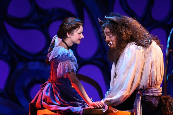 Hilary Maiberger as Belle and Darick Pead as Beast. at BWW Reviews: NETworks BEAUTY AND THE BEAST Passably Pleases Return Audiences, Truly Impresses New Audiences