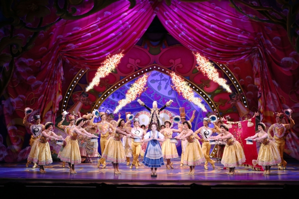 Hilary Maiberger as Belle and the Cast of Disney's BEAUTY AND THE BEAST. at BWW Reviews: NETworks BEAUTY AND THE BEAST Passably Pleases Return Audiences, Truly Impresses New Audiences