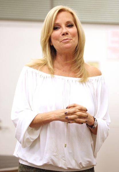 Playwright/ Lyricist Kathie Lee Gifford at In Rehearsal with the Cast of SCANDALOUS!