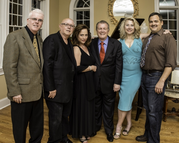 Media Theatre's Executive Director Patrick Ward and Artistic Director Jesse Cline with Ann Crumb, Lee and Carol Roberts, and William Thomas Evans