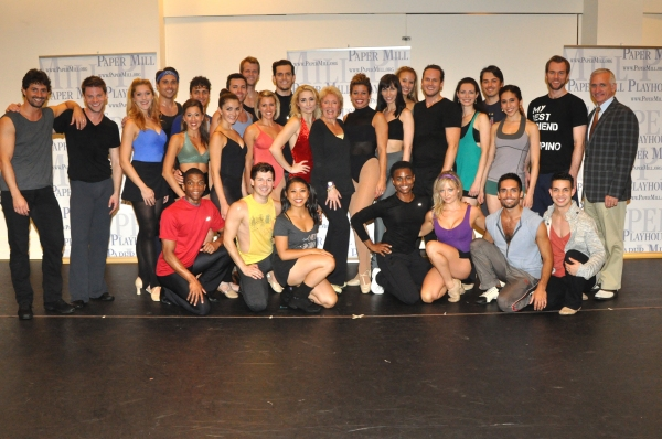 Mitzi Hamilton, Mark S. Hoebee and the cast of A Chorus Line-Ashley Arcement, Carlei Photo