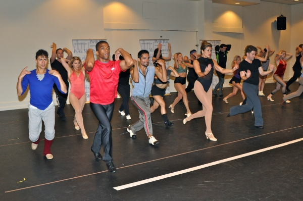 Photo Coverage: Paper Mill Playhouse's A CHORUS LINE Cast Meets the Press!
