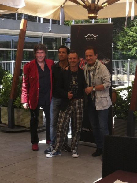 Stefano D'Orazio, Fabrizio Angelini, Gianfranco Vergoni, Roby Facchinetti Photo