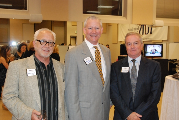 TUTS Artistic Director Bruce Lumpkin, TUTS' Chairman of the Board Steve Burkett, and TUTS CEO and President John Breckenridge.