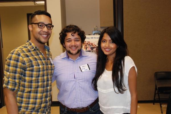 Mark Jackson (HSMT Alum), Zach Ullah (HSMT Alum) and Synthia Jahan. Photo