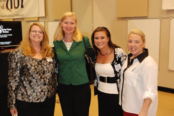 Susan Lee (HSMT Alum), Julie Pradel (HSMT Alum), Rebecca Lazarou (HSMT Alum) and Shay Rodgers (HSMT Alum and TUTS Manager of Education).