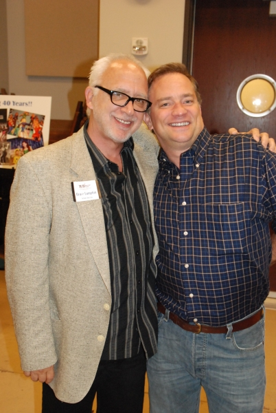 TUTS Artistic Director Bruce Lumpkin and Michael Tapley (HSMT Alum). Photo