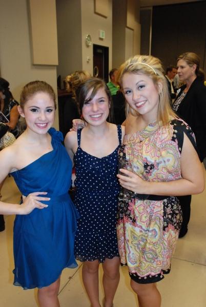 Natalie Flores (HSMT student), Grace Nardecchia, and Rachel Broussard (HSMT student).