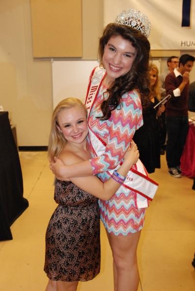 Megan McGuff (HSMT student) and Angelica Alcala-Herrera (HSMT student).