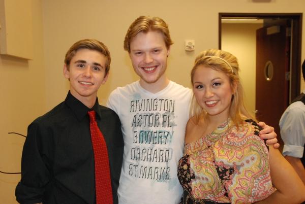 Jacob Ables (HSMT student), Tyce Green (HSMT alum) and Rachel Broussard (HSMT student).