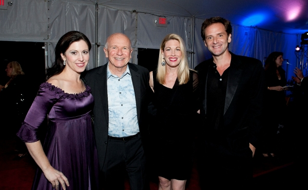 Gala performers Camille Zamora, Marin Mazzie, and Malcolm Gets, with Terrence McNally at Nathan Lane, Marin Mazzie and More Honor Terrence McNally at Westport Country Playhouse