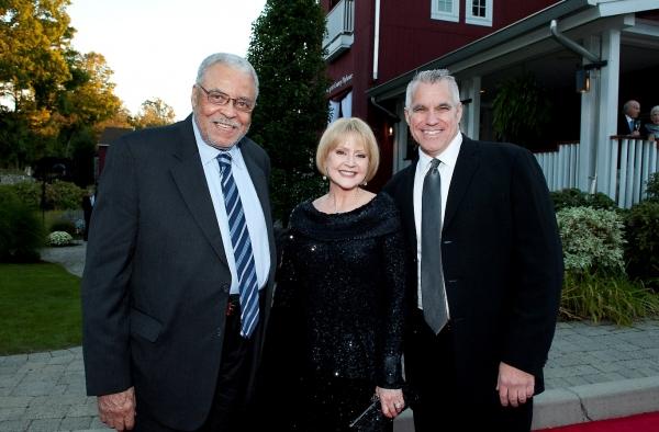 James Earl Jones, Westport Country Playhouse board of trustees member, and wife Cecilia Hart; Michael Ross, Playhouse managing director