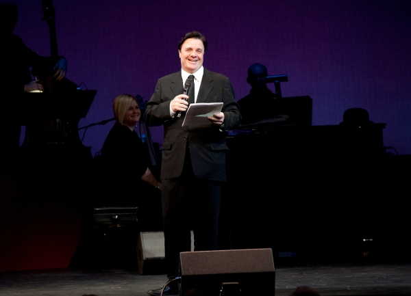 Nathan Lane, surprise guest. Background: Mary-Mitchell Campbell, music director at Nathan Lane, Marin Mazzie and More Honor Terrence McNally at Westport Country Playhouse