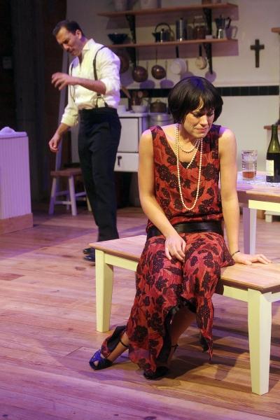David Matranga as Jean and Jennifer Dean as Miss Julie. Photo