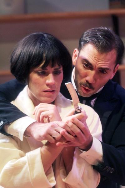 Jennifer Dean as Miss Julie and David Matranga as Jean. Photo