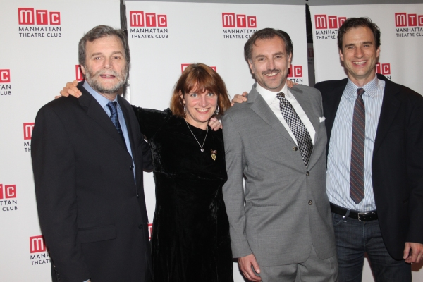 John Procaccino, Rebecca Lenkiewicz, Randall Newsome and James Waterston  at  AN ENEMY OF THE PEOPLE - Opening Night Party!
