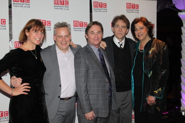 Rebecca Lenkiewicz, Doug Hughes, Richard Thomas, Boyd Gaines and Lynne Meadow  at  AN ENEMY OF THE PEOPLE - Opening Night Party!