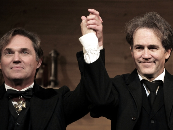 Richard Thomas and Boyd Gaines  at AN ENEMY OF THE PEOPLE - Opening Curtain Call!