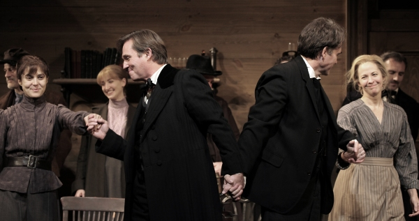 Maite Alina, Richard Thomas, Boyd Gaines and Kathleen McNenny  at AN ENEMY OF THE PEOPLE - Opening Curtain Call!