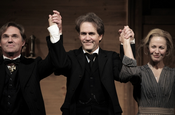 Richard Thomas, Boyd Gaines and Kathleen McNenny  at AN ENEMY OF THE PEOPLE - Opening Curtain Call!