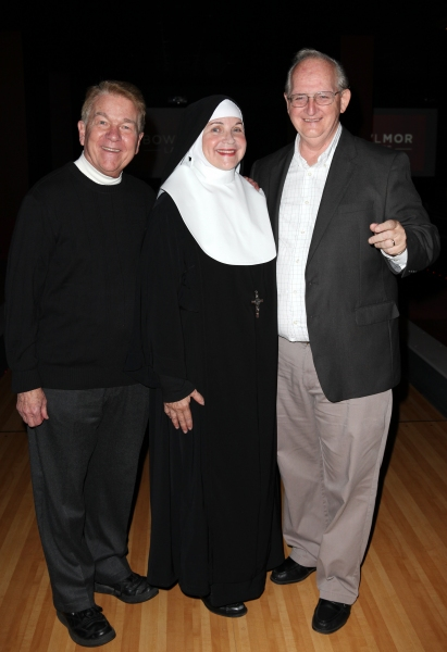 Dan Goggin, Cindy Williams and Jim Murtha at Cindy Williams & NUNSET BOULEVARD Cast Meet the Press!