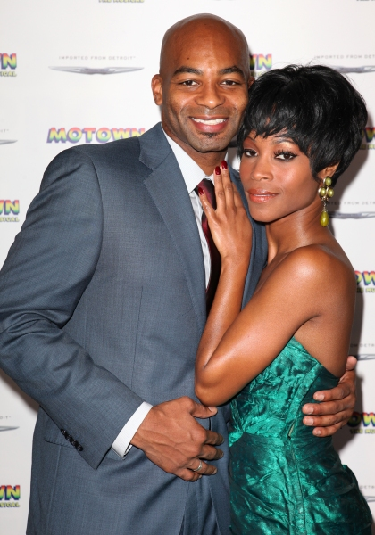 Brandon Victor Dixon and Valisia LeKae at Freeze Frame: Inside MOTOWN: THE MUSICAL's Launch Event!