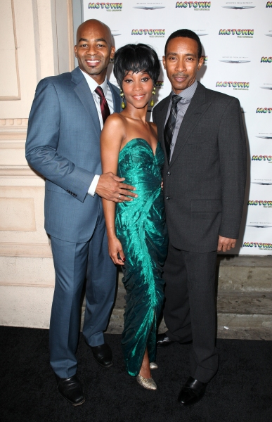 Brandon Victor Dixon, Valisia LeKae and Charles Randolph Wright  at Freeze Frame: Inside MOTOWN: THE MUSICAL's Launch Event!