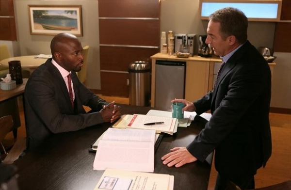 TAYE DIGGS, BRIAN BENBEN at Sneak Peak at PRIVATE PRACTICE on 10/9
