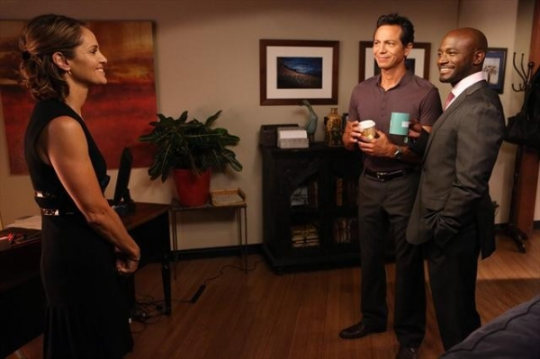 AMY BRENNEMAN, BENJAMIN BRATT, TAYE DIGGS at Sneak Peak at PRIVATE PRACTICE on 10/9