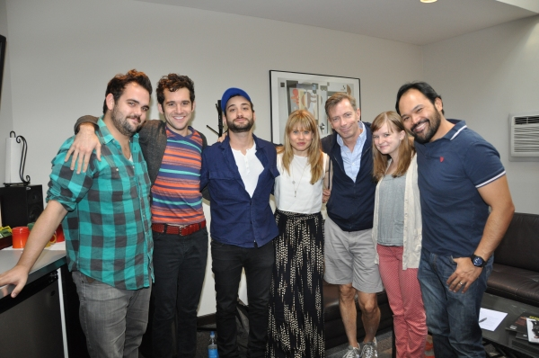 Greg Hildreth, Adam Chanler-Berat, Teddy Bergman, Celia Keenan-Bolger, Arnie Burton and Orville Mendoza at Photo Coverage Exclusive: PETER AND THE STARCATCHER Cast Records 'Carols For A Cure'