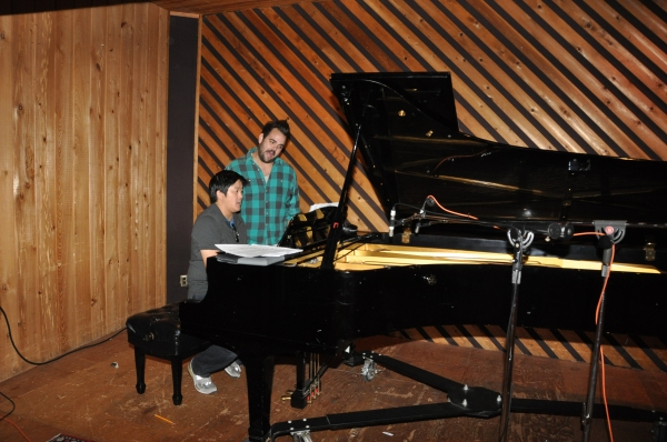 Marco Paquia and Greg Hildreth at Photo Coverage Exclusive: PETER AND THE STARCATCHER Cast Records 'Carols For A Cure'
