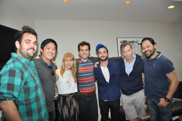 Gregg Hildreth, Marco Paquia (Musical Director), Celia Keenan-Bolger, Adam Chanler-Berat, Teddy Bergman, Arnie Burton and Orville Mendoza at Photo Coverage Exclusive: PETER AND THE STARCATCHER Cast Records 'Carols For A Cure'