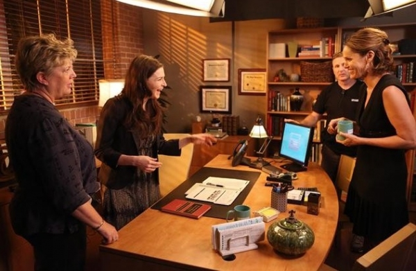 Bethany Rooney, Caterina Scorsone, Amy Brenneman at Behind The Scenes Look of PRIVATE PRACTICE 'Good Grief' Episode