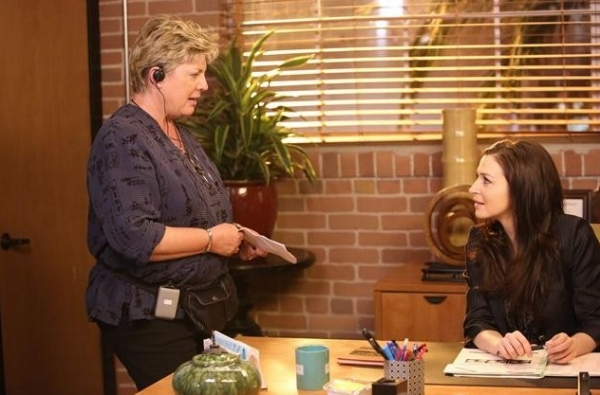 Bethany Rooney, Caterina Scorsone at Behind The Scenes Look of PRIVATE PRACTICE 'Good Grief' Episode