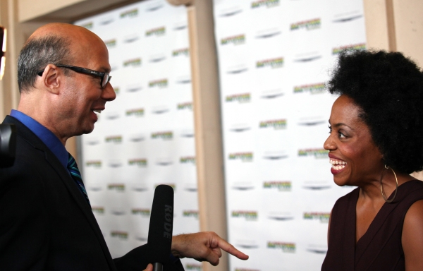Richard Ridge and Rhonda Ross at Inside the MOTOWN: THE MUSICAL Launch- Arrivals!
