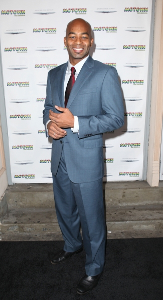Brandon Victor Dixon  at Inside the MOTOWN: THE MUSICAL Launch- Arrivals!